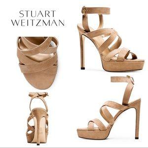 Stuart Weitzman Soundtrack Suede Sandal - 7 - NWOT